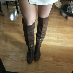 Loeffler Randall Over the Knee Leather Boots Sz 7